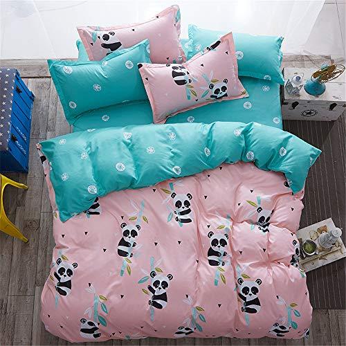 YUNSW Niedlichen Tier Bettwäsche Jungen Mädchen Kinder Bettwäsche Set Bettlaken Königin Twin Double Size Bettbezug B 150x200 cm (Twin Jungen Bettwäsche)