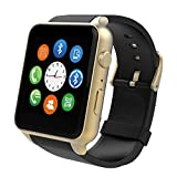 LENCISE New Smart Watch Fashion Wrist Smartwatch Heart Rate Monitoring Touch with Camera Waterproof for IOS Android Phone Mate