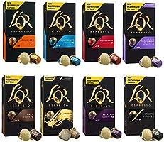 L'OR Espresso Café Paquete de variedades - Nespresso® * Cápsulas de café de aluminio compatibles - 8 paquetes de 10...