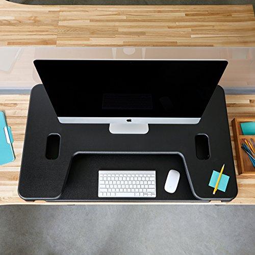 Height-Adjustable Standing Desk - VARIDESK Cube Plus 40 - Black