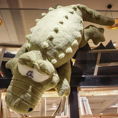 CGDZ Plüschtier niedlichen Krokodil Kostüm Alligator Puppe Königin Kissen Plüsch PP Baumwolle Kissen Kissen Gefüllte TV & Movie Charakter grün 230cm