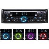 Auna MD-140-BT - Autoradio numerique avec ports USB et SD pour lecture MP3, Bluetooth pour streaming audio smartphone, tuner FM RDS et entree AUX (differentes couleurs de retro eclairage, ampli MOSFET, facade amovible)