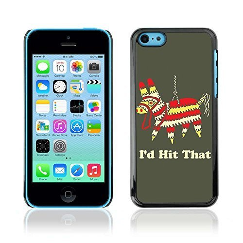 n Hartplastik Handy-Schutzhülle Schale Hülle Case Cover für Apple iPhone 5C ( Lustige Ich würde den Pinata Hit ) ()