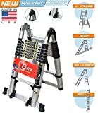 #4: Euro Double Telescopic Aluminium ladder 5.6 meter (19 feet) - Stores at 3.5 feet - A Frame 9 feet - Wall Support 19 feet - New Tip n Glide Wheel kit , Mag Hinge & Dual Ultra Stabilizer - Ultra portable