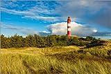 Poster 120 x 80 cm: Leuchtturm auf der Nordseeinsel Amrum