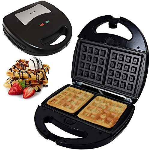 Syntrox Germany Waffeleisen Waffelmaker Chef Maker SM-1300W Waffle Bakery mit herausnehmbaren Backplatten