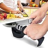 LeRan Diamant Messerschärfer Professionelle Küche Manuelle Klingen Schärfwerkzeug mit 3 Stufen helfen, Wiederherstellen und Polnisch