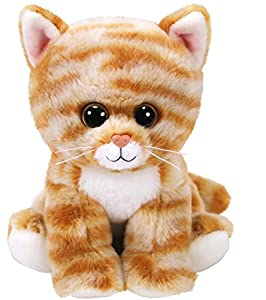 Ty- Beanie Babies Cleo, Gato, Color marrón, 15 cm (United Labels Ibérica 42305TY)