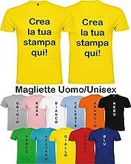 Idea Regalo - CENTRO STAMPA MAGLIETTA STAMPA PERSONALIZZABILE, UOMO/DONNA, VARI COLORI E TAGLIE (Colorata)