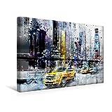 Calvendo Premium Textil-Leinwand 45 cm x 30 cm Quer, City-Art NYC Collage | Wandbild, Bild auf Keilrahmen, Fertigbild auf Echter Leinwand, Leinwanddruck: Einer kunstvollen Impression Orte Orte