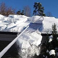 MBESSR Herramienta de eliminación de Trineo de Techo de 20 pies de Mango telescópico Ajustable Puede aliviar su Problema de Nieve