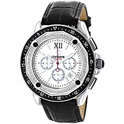 Mens Diamond Chronograph Watch by Centorum Falcon 0.55ct
