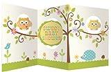 Baby-Party-Dekoration, Karte zum Aufstellen, Baum-Motiv