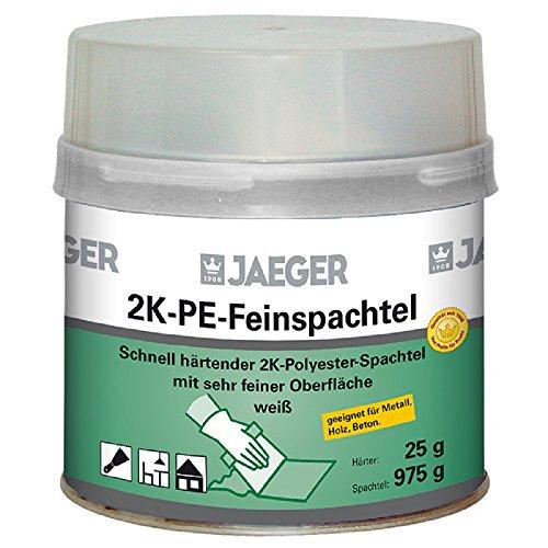 Jaeger Feinspachtel, 2-Komponenten Polyesterspachtel, weiss 1000g