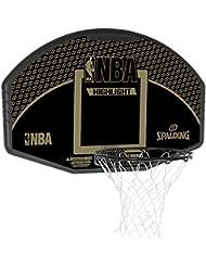 Spalding NBA Highlight Tablero, Unisex adulto, Negro / Oro, 44