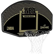 Spalding NBA Highlight Tablero, Unisex adulto, Negro / Oro, 44