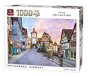 King City Collection Rothenburg 1000 pcs Puzzle - Rompecabezas (Puzzle Rompecabezas, Ciudad, Adultos, Hombre/Mujer, 8 año(s), Cartón)
