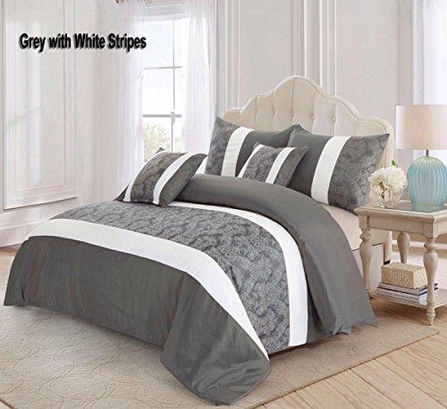 THL Neue Ankunft neuesten Tagesdecke mit 2Kissen Sham Opulence Betten Gesteppte Tagesdecke, grau, King Size (Gefütterte Grenze)