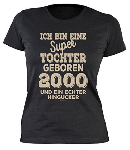 Sexy Mädchen Damen T-Shirt Exklusiv Zum 18. Geburtstag Lieblingsmenschen 2000 Cooles Geschenk Zum 18 Geburtstag Freundin Schwester 18 Jahre (L, Tochter)