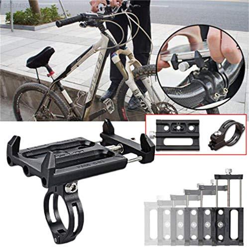 QHJ Fahrradhalter Handy Motorrad Halterung Fahrrad Motorrad Moped GUB-85 Fahrrad Zubehör (Schwarz)
