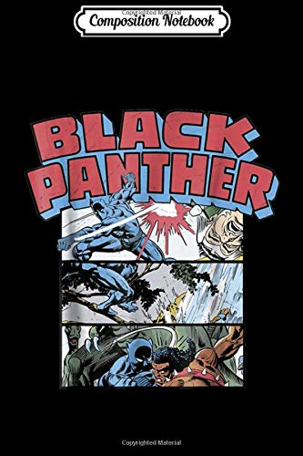 Composition Notebook: Marvel Black Panther Retro Comic Stacked Panel Art  Journal/Notebook Blank Lined Ruled 6x9 100 Pages (Marvel-comic-tank)