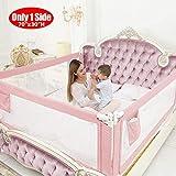 ZEHNHASE Barandilla de La Cama Guardia de Seguridad para Niños, Portátil Barrera de cama para bebé Protección contra caídas, Barandilla cama(180cm,Rosa,1pcs)