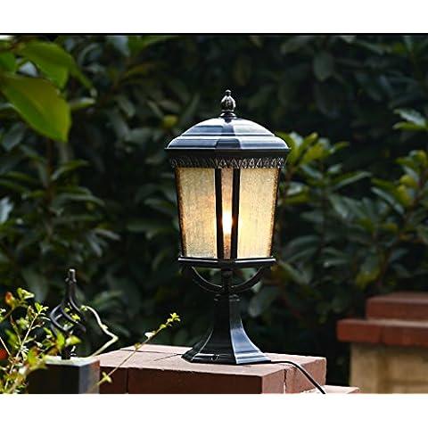 Corpo Ombra Garden Villa vetro Stigma lampada europeo parete esterna Post Post luce esterna impermeabile muro del cortile di illuminazione della lampada in
