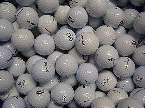 Lakeballs Lot de 100 balles de golf de récupération Calibre AAA/AA
