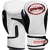 Farabi Kinder Boxhandschuhe, Junior Muay Thai Training Handschuhe, Kinder Boxsack mitt (White/Black, 8-oz)