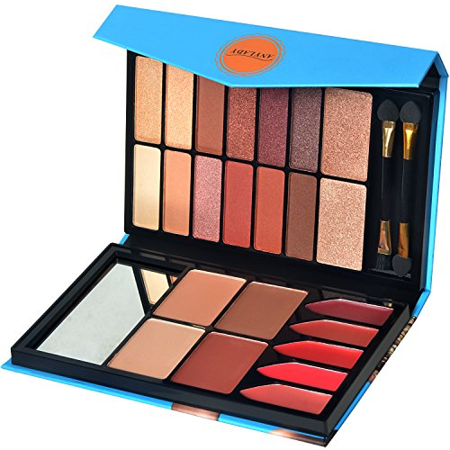 Eye Shadow Palette,Shimmer and Matte Eye Shadow with Blush, Contour and Lip Palette, Makeup Kit Set 23 Colors