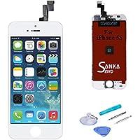 SANKA LCD Pantalla Táctil con Marco de Digitalización Asamblea Pantalla de Recambio para iPhone 5S - Blanco