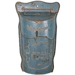 Antic Line - Mailbox Post blue