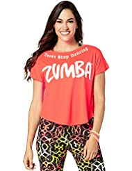 Zumba Fitness Never Stop Dancing Boxy Top Femme