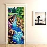 #10: DeStudio River Landscape Door Murals (Surface Covering Area : 76cms X 198cms)-14257