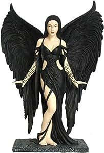 Statuette Fée gothique noire - 25 cm