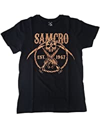 SONS OF ANARCHY - T-Shirt Mec SONS OF ANARCHY - Samcro Chained - Noir