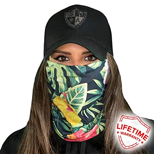 SA Fishing Face Shields (FBA), Hawaiian Flowers Face Shield