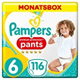 Pampers Premium Protection Pants, Gr.6 Extra Large, 15+kg, Monatsbox, 1er Pack (1 x 116 Stück)