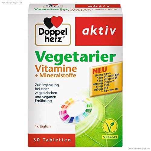 Doppelherz Vegetarier Vitamine + Mineralstoffe aktiv, 30 St