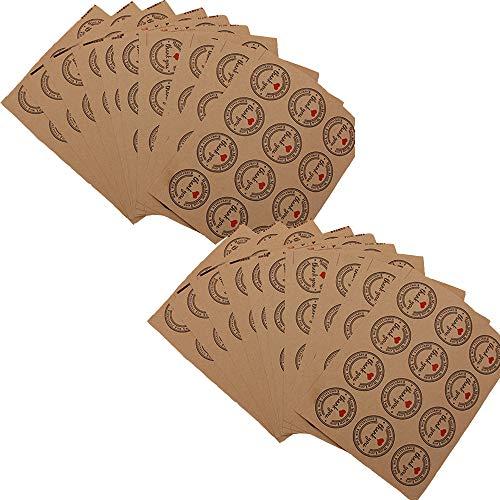 yyuezhi Aufkleber Label Aufkleber Runder Retro Design Aufkleber Home Label handgemacht Danke Geschenk für Hochzeit Umschlag Karte DIY Geschenkverpackung (Weinlese-hochzeits-kuchen-dekoration)