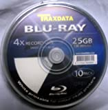 SPECIAL OFFER!!!!! 50 x Traxdata Blu-Ray 25Gb 4x BD-R Blank Discs - White Inkjet Printable (5 x 10 Packs)