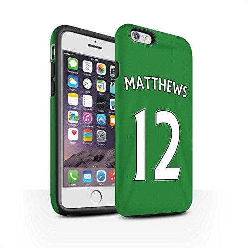 Officiel Sunderland AFC Coque / Matte Robuste Antichoc Etui pour Apple iPhone 6S / Pack 24pcs Design / SAFC Maillot Extérieur 15/16 Collection Matthews