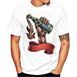 Innerternet T-Shirt da Uomo, Stampa con Lupo Colorati, Leopardo, Birra,Eleganti strane Vintage Divertenti Manica Corta Moda Fashion, Estivi Ragazzo Tecnica Modellante Primavera Taglia Forti