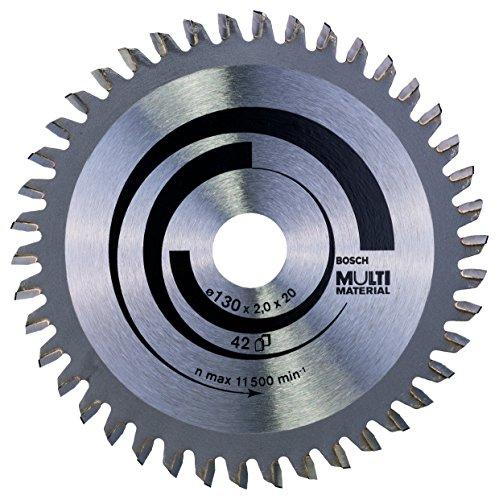 Bosch 2 608 641 195 - Hoja de sierra circular Multi Material - 130 x 20/16 x 2,0 mm, 42 (pack de 1)