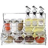 XUE Liquid Condiment Oil Dispenser und Sirup Container mit Automatischen Stopper, Precise-Gießen Auslauf (einschließlich Edelstahl-Regale)