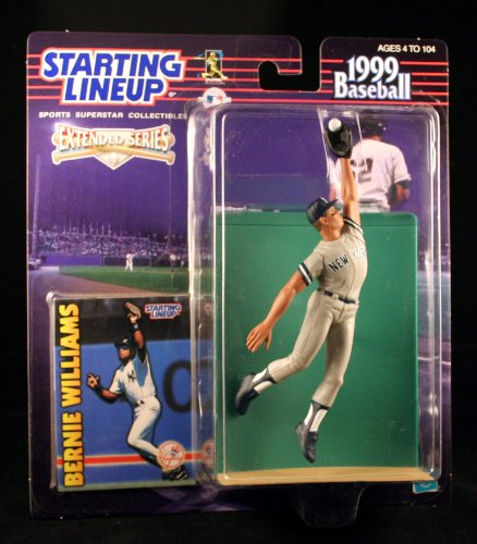 BERNIE WILLIAMS / NEW YORK YANKEES 1999 MLB Extended Series Starting Lineup Action Figure & Exclusive Collector Trading Card by Starting Line Up (Serie Bernie)