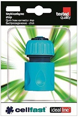 Schnellschlaug Konnektor mit Wasser Stopp, 1/2-5/8 Zoll, 9 x 4 x 13 cm, blau, CF50-120 (58-zoll-dusche)