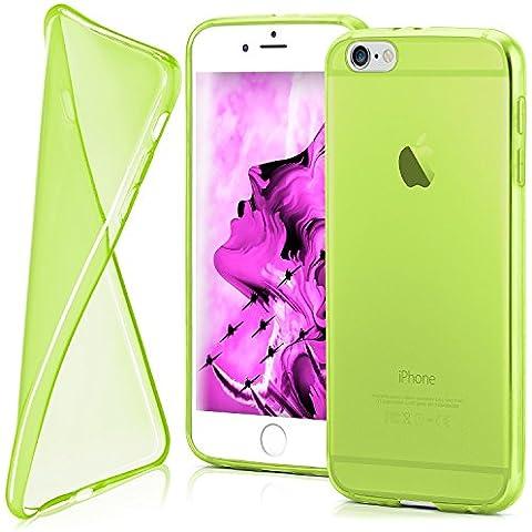 Funda protectora OneFlow para funda iPhone 6 / 6S Carcasa silicona TPU 0,7 mm | Accesorios cubierta protección móvil | Funda móvil paragolpes bolso traslúcida transparente en Verde