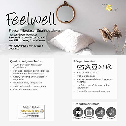 aqua-textil Feelwell Thermo Flausch Bettwäsche Spannbettlaken grau Silber grau Coral Fleece Bettbezug Laken