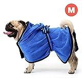 GiBot Bademantel für Hunde Mikrofaser Schnelltrocknende und Wasserabweisende Trockenes Handtuch